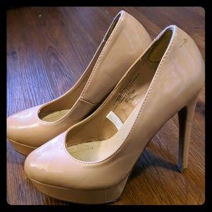 Xhilaration nude patent platform heels